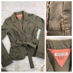 Tommy Jeans Green Military Embroidery Jacket